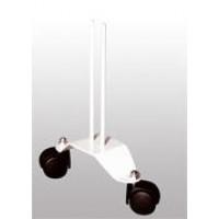 411S  Paire pieds roulettes/Paar rolvoeten RAL9010 8 cm