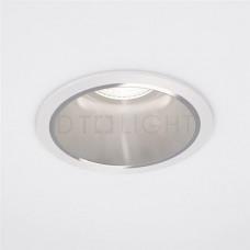 ABOU DHABI - rond blanc structuré + alu poli (bords fins)