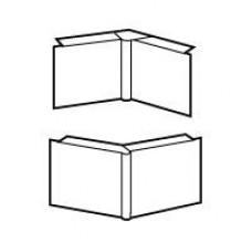 Angle int./ext. DLP 32x12,5 mm variable - blanc - 1 ou 2 com