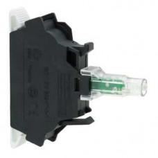 Bloc lumineux - Ø 22 - vert LED intégrée - 24 VAC/DC