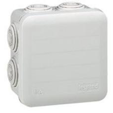 Boîte carrée Plexo IP 55 étanche - blanc - 7 embouts