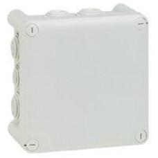 Boîte carrée Plexo IP 55 étanche - gris - 10 embouts