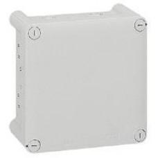 Boîte carrée Plexo IP 55 étanche - gris - 20 entrées