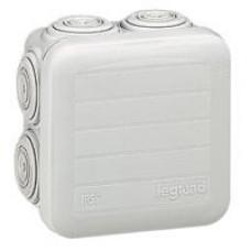 Boîte carrée Plexo IP 55 étanche - gris - 7 embouts