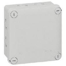 Boîte carrée Plexo IP 55 étanche - gris - 7 entrées