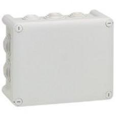 Boîte rectangul. Plexo IP 55 étanche - gris - 10 embouts