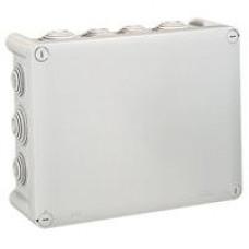 Boîte rectangul. Plexo IP 55 étanche - gris - 14 embouts