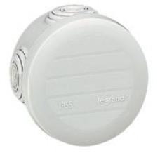 Boîte ronde Plexo IP 55 étanche - gris  - 4 embouts