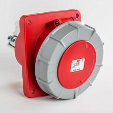 CEE IDE 125A 5p   400VAC IP67 prise encastrée inclinée