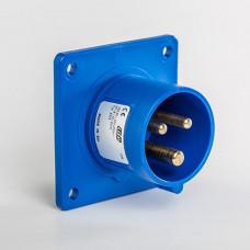 CEE IDE 16A 3p     230VAC IP44 socle de racc. enc. droit