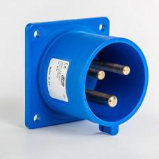 CEE IDE 32A 3p     230VAC IP44 socle de racc. enc. Droit