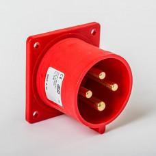 CEE IDE 32A 4p     400VAC IP44 socle de racc. enc. droit