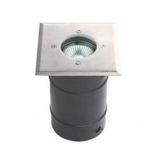 ENCASTRE DE SOL CARRE GU10 IP65 Acier Inox