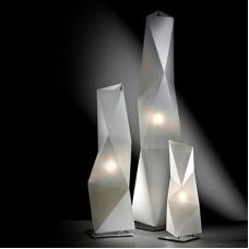 Floor lamp DIAMOND L E27 incl. - Opalflex white