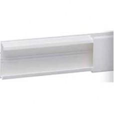Guide-câbles DLP - long. 2,1 m 14 x 13,5 mm - blanc - adhési