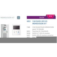 Kit vidéo N-CITY VEO XS DUOX COULEUR, 1 bouton, MEMOVISION