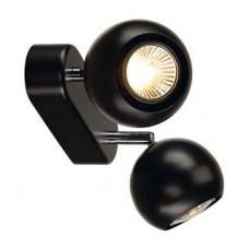 LIGHT EYE 2 GU10 wand en plafond armatuur, zwart/chroom , 2x GU10, max. 2x 50W