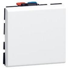 Mosaic deux dir. 10A 250V 2 mod. Blanc