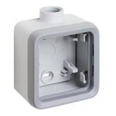 Plexo boitier 1 poste 1 entree m20 gris