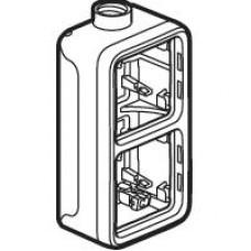 Plexo boitier vert. 2 pos 1 entree m20 gris