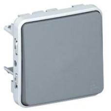 Plexo deux direct. 10a 250v composable gris