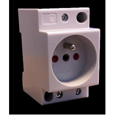 Prise modulaire F&G 2P+T 10/16A prot. Enfant   285753