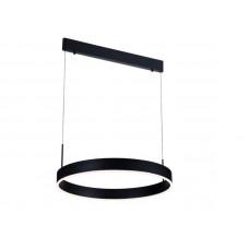 PURE pendule ronde LED 22W noir