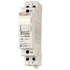 Télérupteur modulaire FINDER 12VAC 2NO 16A  AgSnO2